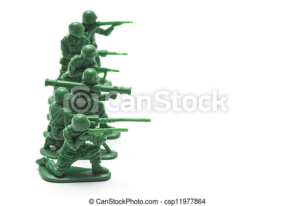 miniature toy soldiers - csp11977864