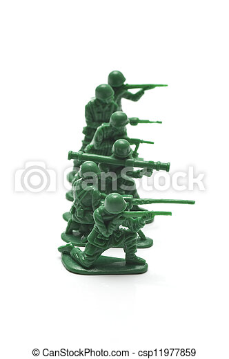 miniature toy soldiers - csp11977859