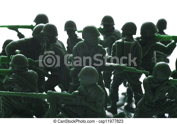 miniature toy soldiers - csp11977823