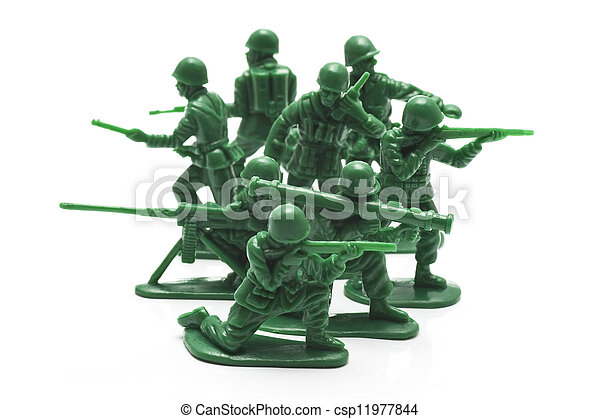 miniature toy soldiers - csp11977844