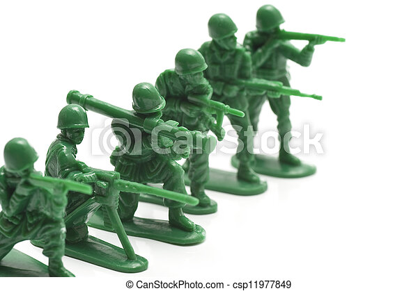 miniature toy soldiers - csp11977849