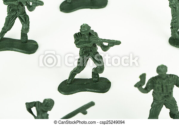 Miniature Toy Soldiers - csp25249094
