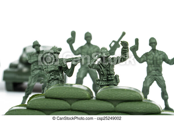 Miniature Toy Soldiers - csp25249002