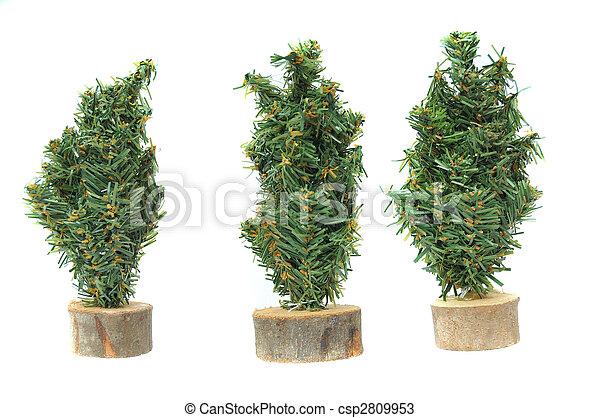 Miniatuur Figuren Kerstboom Plastic Miniatuur Boompje