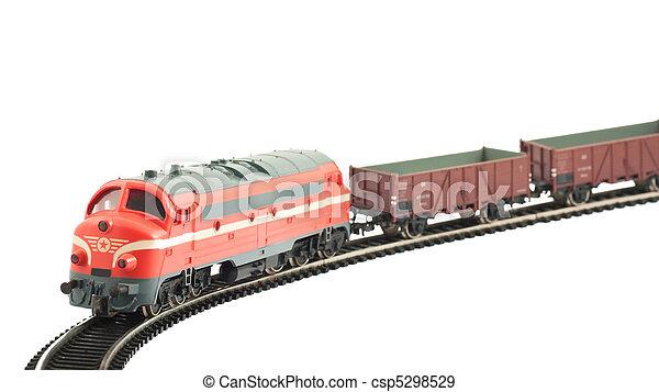 miniatuur, model trein - csp5298529