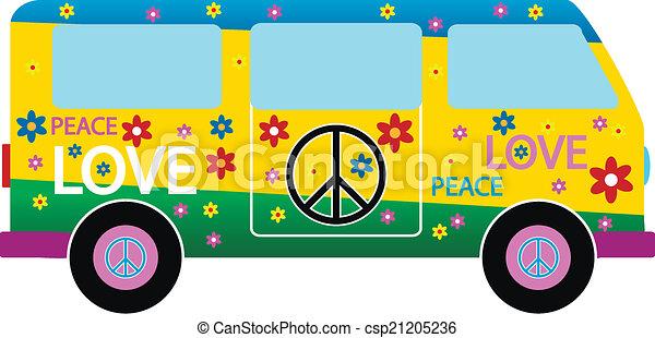 minibus, hippie - csp21205236