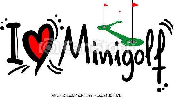 Minigolf love - csp21366376