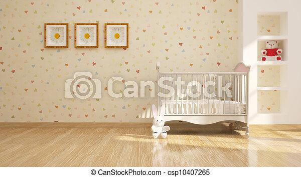 minimal modern Interior of nursery - csp10407265