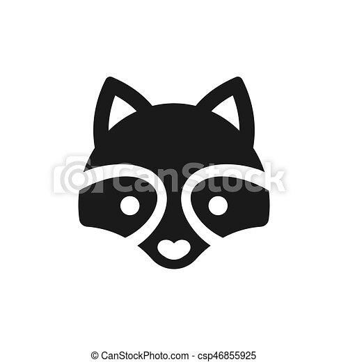 Minimal Raccoon icon - csp46855925