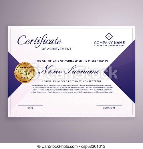 minimal style certificate design template csp52301813