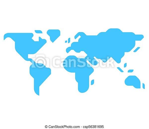 Minimal style world map