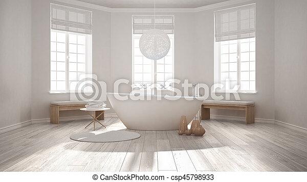GroBartig Minimalist, Badezimmer, Klassisch, Zen, Skandinavisch, Badewanne, Design,  Inneneinrichtung,