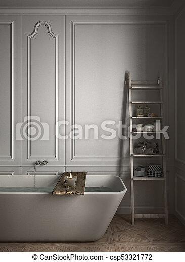 Minimalist Bathroom Close Up White Scandinavian Interior Design Classic Architecture Night Scene,Home Decorators Collectors