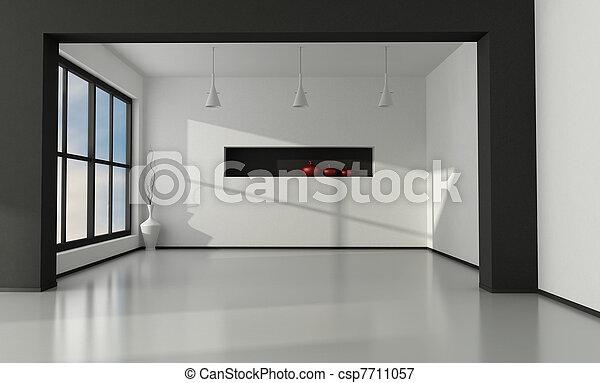 Minimalist empty interior - csp7711057