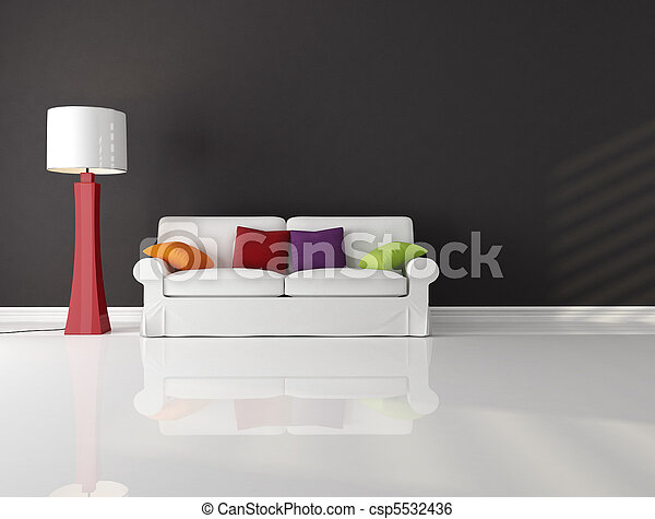 minimalist, kamer, levend - csp5532436