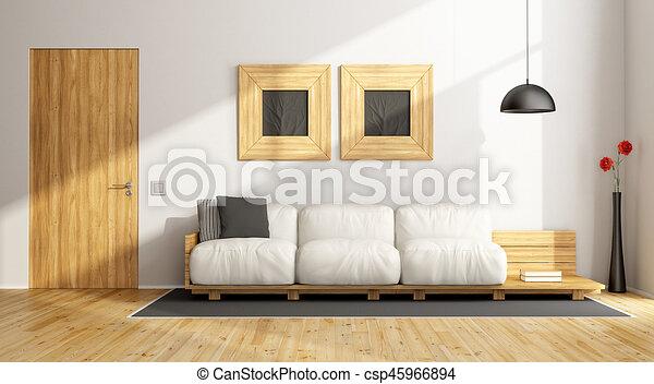 Minimalist living room - csp45966894