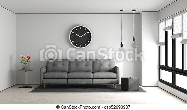 Minimalist Living Room   Csp52690937