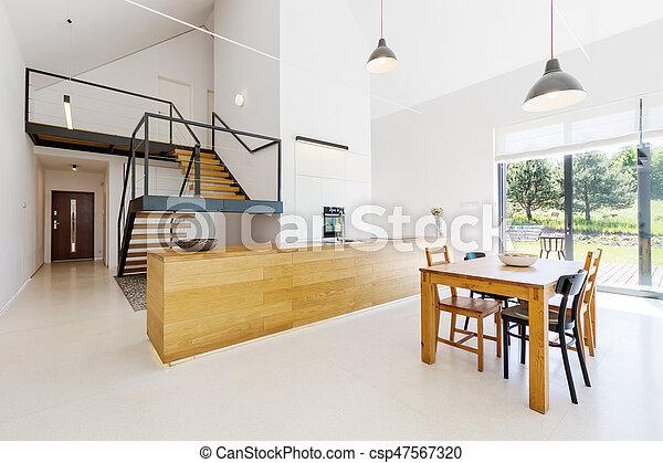 minimalist mezzanine wohnung boden minimalist wohnung boden h lzern mezzanine ger umig. Black Bedroom Furniture Sets. Home Design Ideas