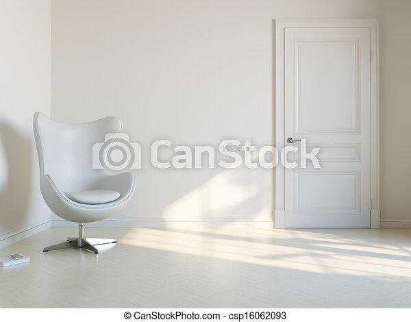 Minimalist White Interior Room - csp16062093