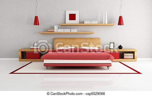 Dormitorio minimalista - csp5529066