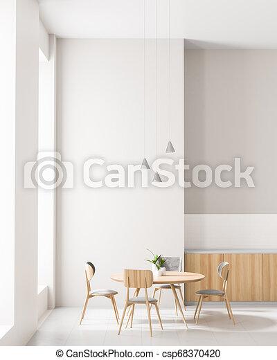 Espaciosa cocina moderna con mesa de comedor. diseño de ...