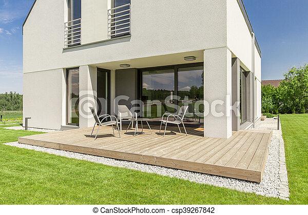 Minimalista Moderno Terraza Casa