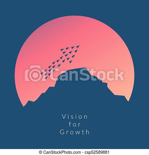 minimalista, mudança, stile, solução, voando, tendência, criativo, high.vision, idéia, crescimento, maneira, inovação, coragem, novo, avião, original, concept. - csp52589881