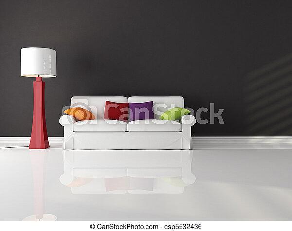 minimalista, sala, vivendo - csp5532436