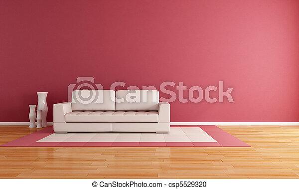 minimalista, sala, vivendo - csp5529320