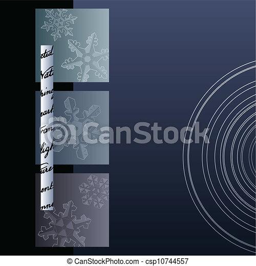 minimaliste, hiver, fond - csp10744557