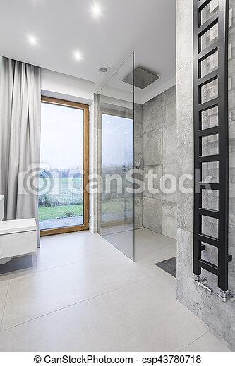 Minimalistic design in bathroom - csp43780718