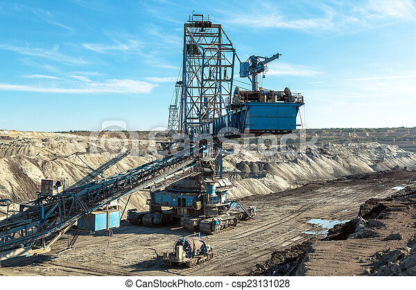 Mining machinery in the mine - csp23131028