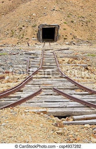 Mining rail and shaft - csp4937282