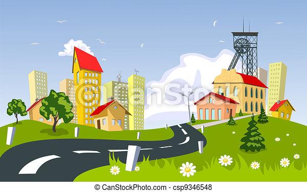 Mining town - csp9346548