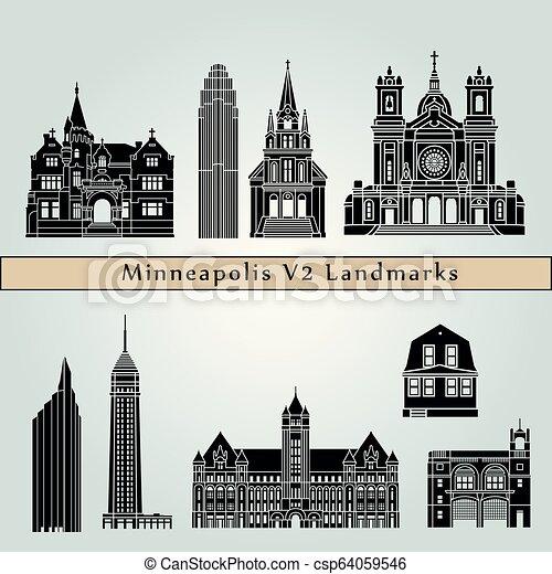 Minneapolis V2 Landmarks - csp64059546