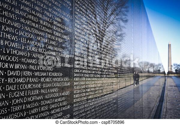 minnesmärke, vietnam, washington washington dc, krig - csp8705896