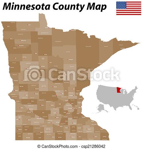 Minnesota County Map - csp21286042