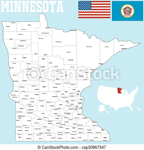 Minnesota county map - csp30867547