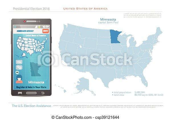 Minnesota. United states of america maps and minnesota state ...