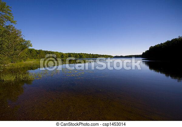 Minnesota Lake in Blue - csp1453014