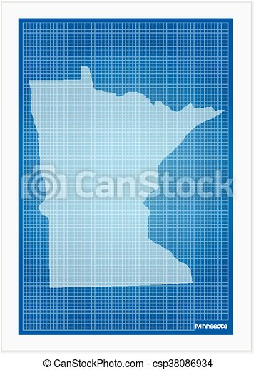 Minnesota on blueprint on a white background vectors search clip minnesota on blueprint csp38086934 malvernweather