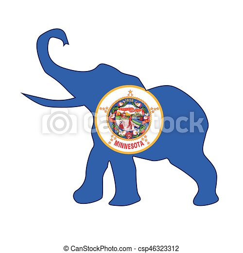 minnesota republican elephant flag the minnesota republican rh canstockphoto com republican elephant vector art