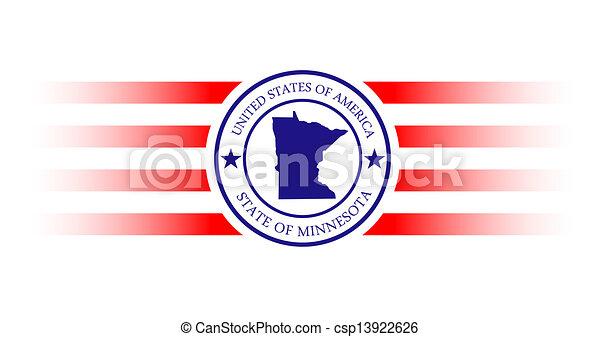 Minnesota stamp - csp13922626