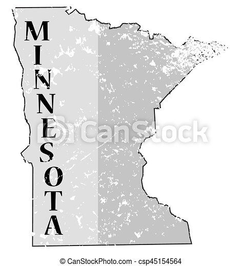 Minnesota State And Date Map Grunged   Csp45154564