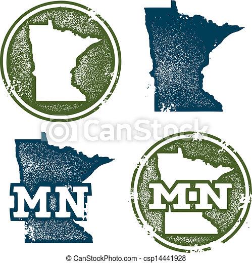 Minnesota State Stamps - csp14441928