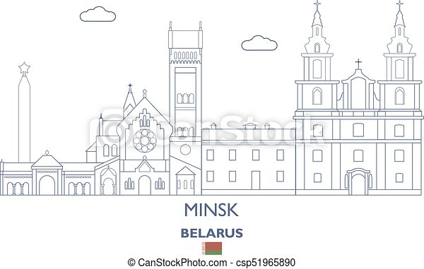Minsk City Skyline, Belarus - csp51965890