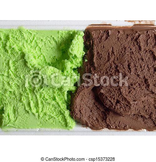 Mint chocolate ice cream - csp15373228