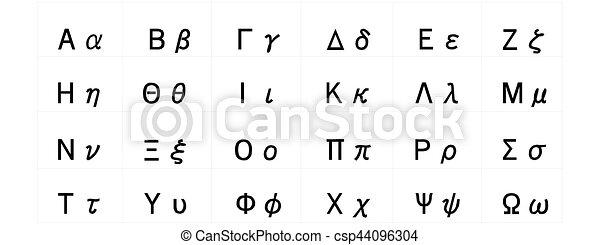 Souvent Vecteur de symboles, alphabet grec - (helpful, &, alphabet  GL21