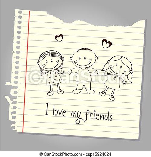 mio, amore, amici - csp15924024