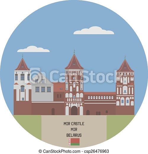 Mir castle. Belarus famous place - csp26476963
